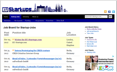 Europe's leading job board for startup jobs – currently over 130 open positions