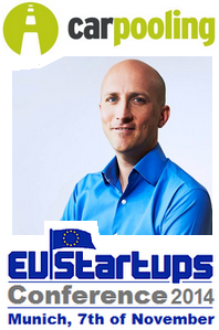 Markus Barnikel, CEO of carpooling.com, will be speaking at this year's EU-Startups Conference