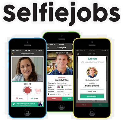 Stockholm-based Selfiejobs, the Tinder for jobs, launches and secures seed investment
