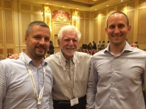 CryptTalk founders with Martin Cooper