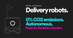 Food delivery using autonomous robots.
