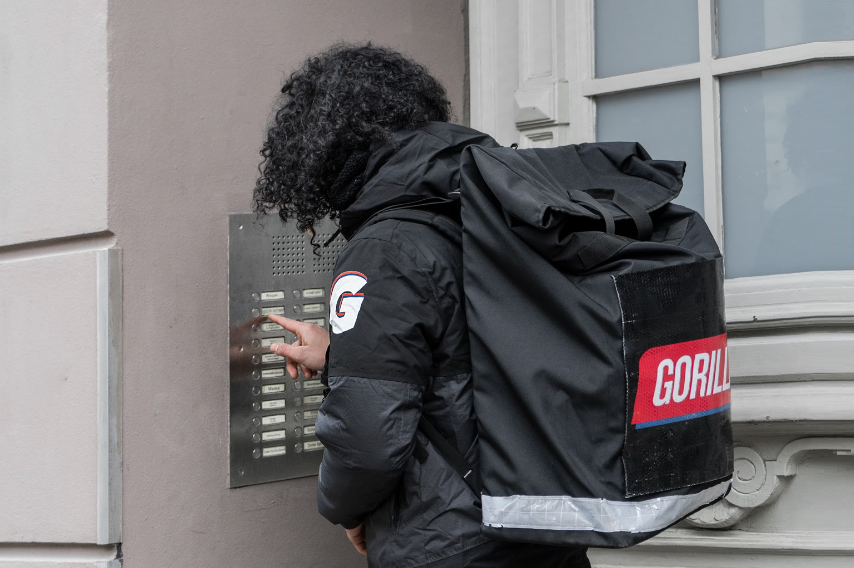 Berlin-based grocery delivery startup Gorillas raises about €860 million to continue on its rapid growth path